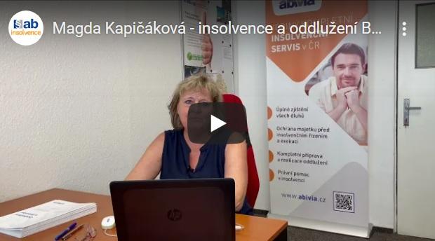 Video: Magda Kapičáková – insolvence a oddlužení Brno